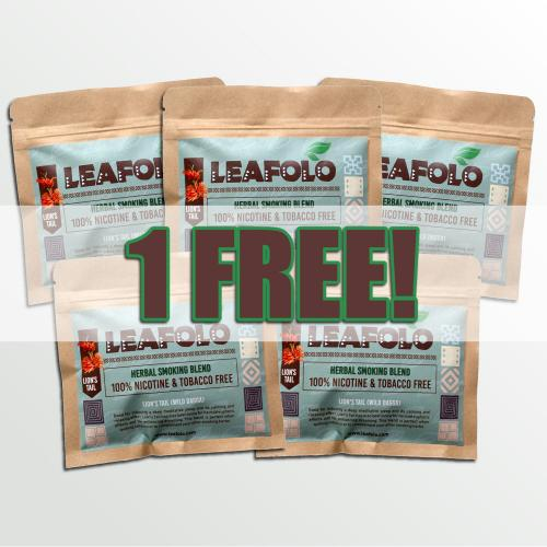 Leafolo Lions Tail Blend - (5 x Pocket Packs | Total Net Weight: 100g)